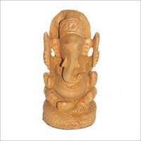 Natural wood Ganesh