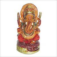 Coloured Wooden Ganesh