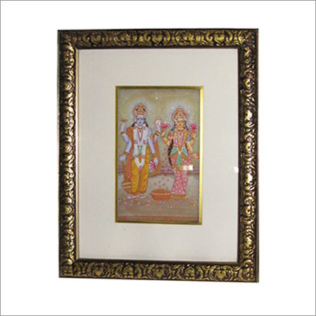 Lord Vishnu & Lakshmi On Marble Tile