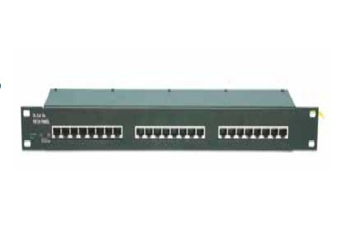 DL-Cat. 5e PATCH PANEL Surge protection for Ethernet Cat. 5e or Cat. 6