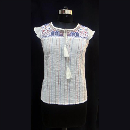 Cotton Crepe Top