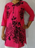 Cotton Kurti Velvet with Center buttons