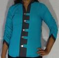 Designer Rayon Shirt Denim Collar with Loops