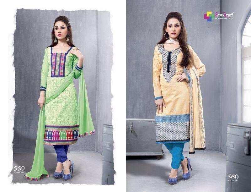 Chanderi Long Suits