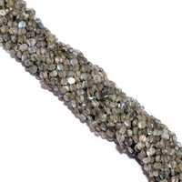 13 inch labradorite plain coin 5mm-6mm beads single strand