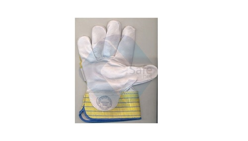 Pure Chrome Canvas Leather Hand Gloves