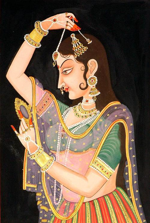 Shringar of a courtesan