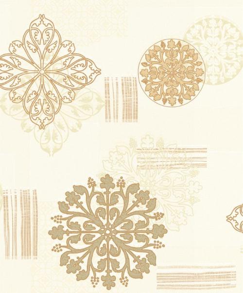 White & Golden Wallpaper dh