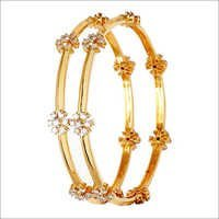 18K fine gold bangle designs