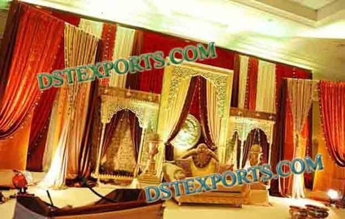 Indian  Wedding Golden Backdrop Frames