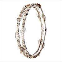 Prong setting shiny diamond bangle jewelry