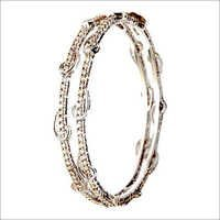prong setting shiny diamond bangle jewelry