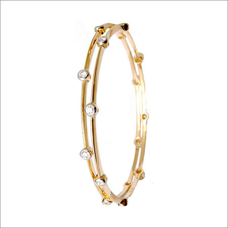 Round diamond gold bangle wholesale
