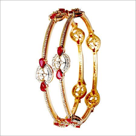 tiny diamond pear shaped ruby bangle supplier