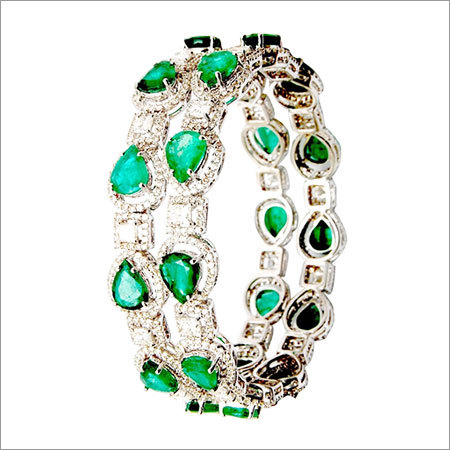 Designer princess cut diamond design bangle