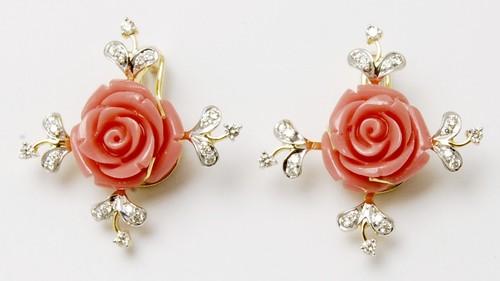 designer precious diamond stud jewellery