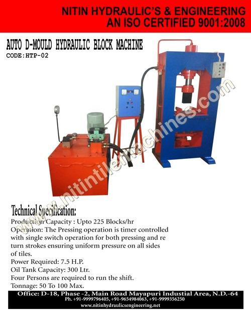Paver Block Making Machine Certifications: Iso 9001 : 2008