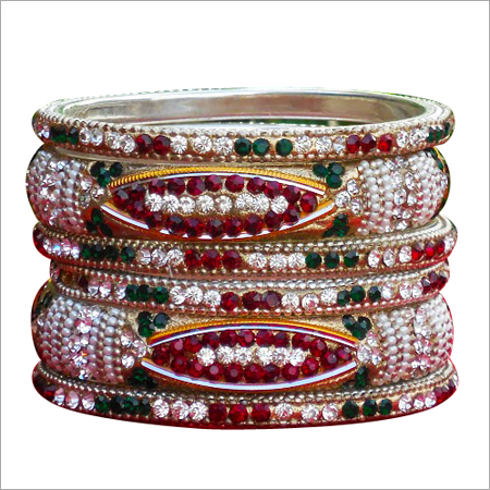 Beaded Brass Bangles