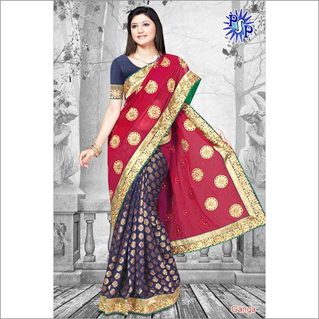 Chiffon shaded saree