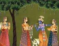 Radha  offering  Krishna