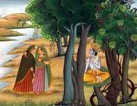 Radha meet with  Krishna