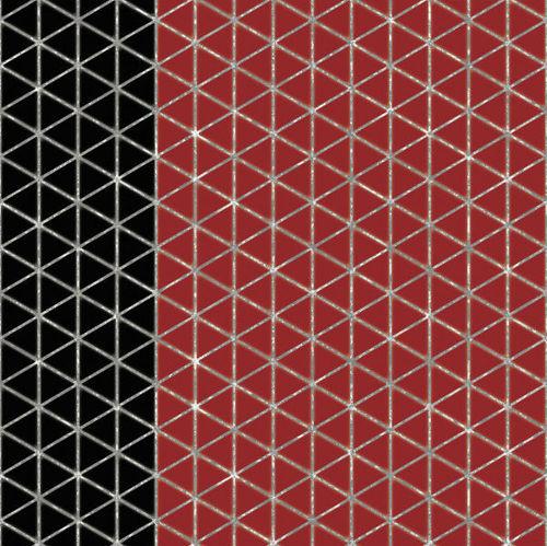 BLACK N RED TILES WALLPAPER