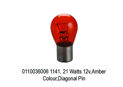 Watts 12v, Amber Colour Shell,Diagonal