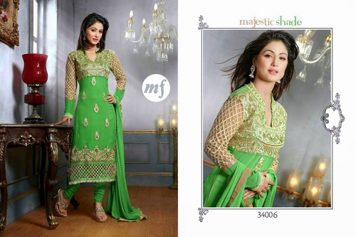 Semi Stitched Party wear Suits