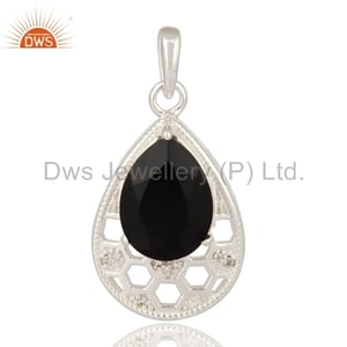 925 Silver Black Onyx Pendant Jewelry