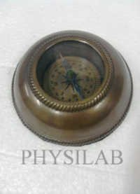 Nautical Compass Wooden Base Antique Finish