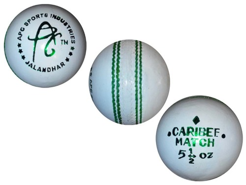APG MATCH WHITE LEATHER CRICKET BALLS