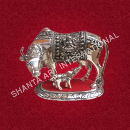 Decorative Metal Cow And Calf
