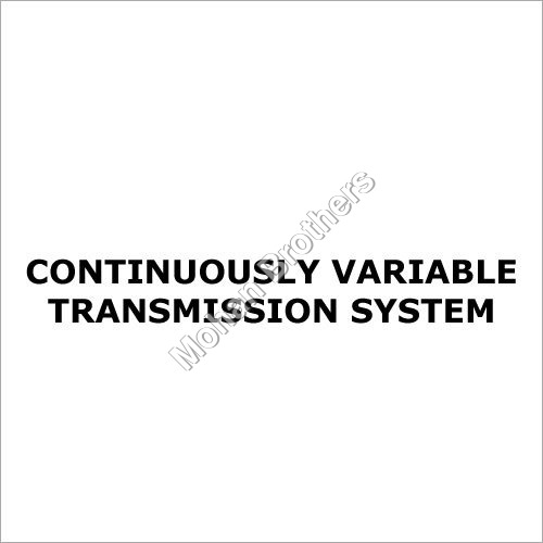 Continuously Variable Transmission System
