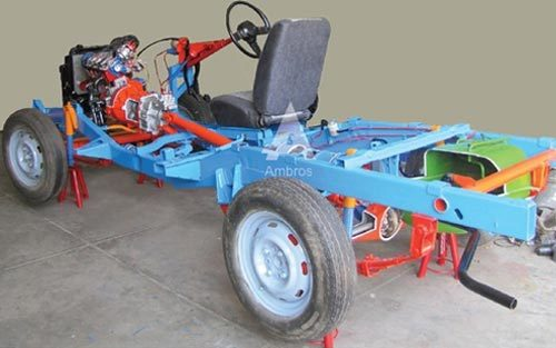 Car Chassis Front Wheel Drive Actual Cut Section