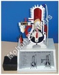 2 Stroke Petrol Engine - Sectional Working Model