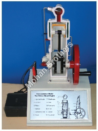 2 Stroke Diesel Engine - Sectional Working Model