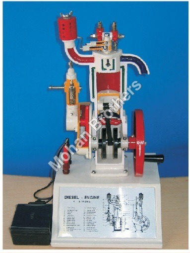 4 Stroke Diesel Engine Sectional Working Model 165
