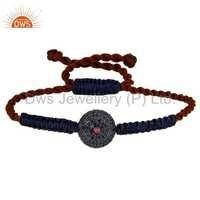 Ruby & Blue Sapphire Macrame Bracelet