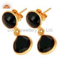 Handmade Gold Plated Silver Gemstone Earring