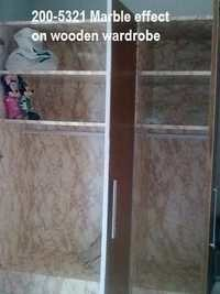 German self-adhesive foil for Wooden Wardrob