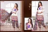 Embroidered Patiyala Suits