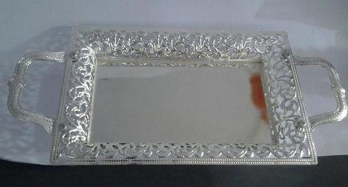 Square Silver Plated Tray