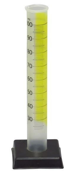 Cylinder Graduated Plastic Transparent Deluxe 100ml