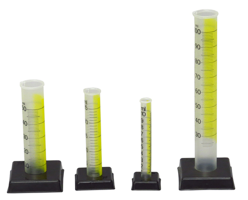 Cylinder Graduated Plastic Transparent Deluxe, Set of 4