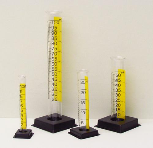 Cylinder Graduated Plastic Transparent Set of 4