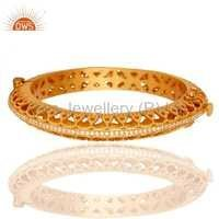 18k Gold Plated Sterling Silver Openable Bangle