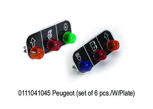 Peugeot (set of 6 pcs.WPlate)