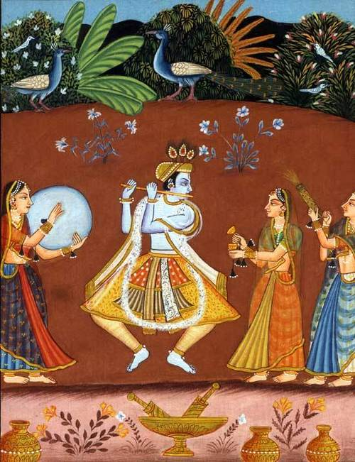 Dance of spring – mewar painting