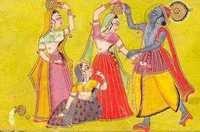 Krishna teasing gopis