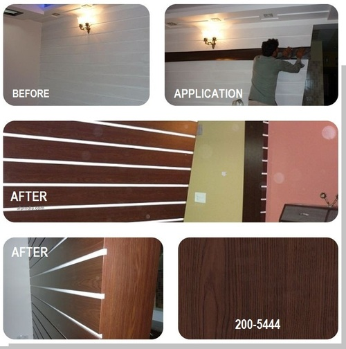 German self-adhesive foil for wall